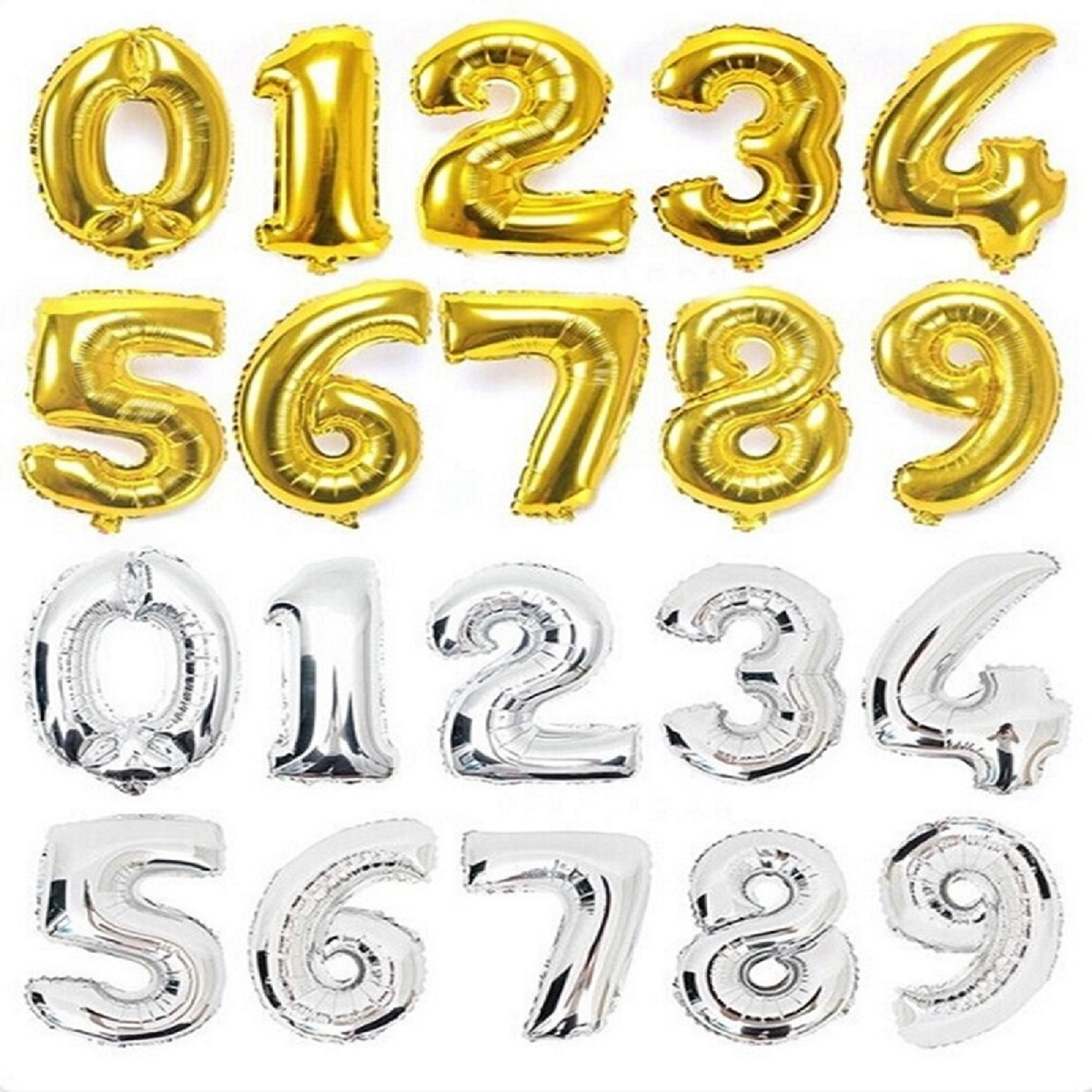 Gold-Silver-Number-Balloon
